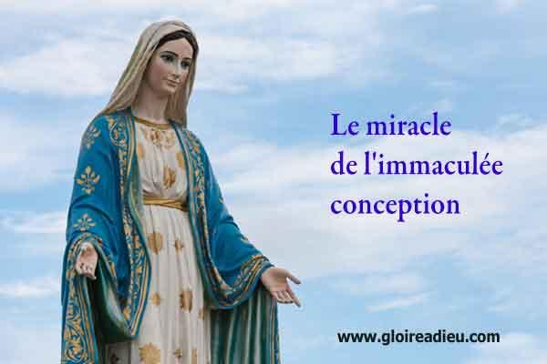 Le miracle de l'immaculée conception de la vie de Marie