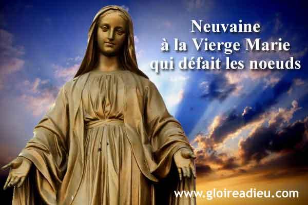 Neuvaine à la Vierge Marie qui défait les noeuds