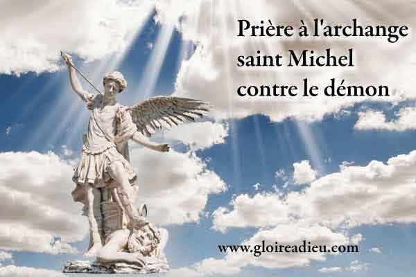 Prière à l'archange saint Michel contre le démon