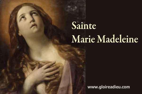 Sainte Marie-Madeleine pécheresse aimée de Jésus Christ