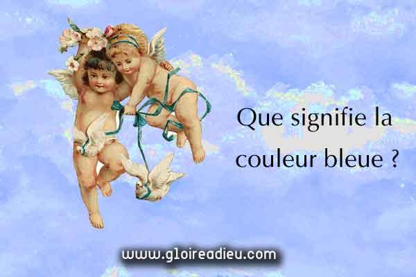 Signification de la couleur bleue
