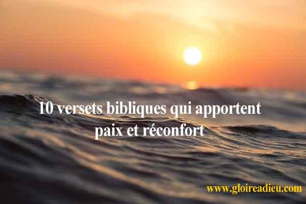 10 versets bibliques qui apportent paix et réconfort