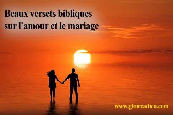 Beaux versets bibliques sur l'amour et le mariage