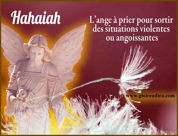 12 – Hahaiah l'ange qui dénoue toute situation violente ou angoissante.