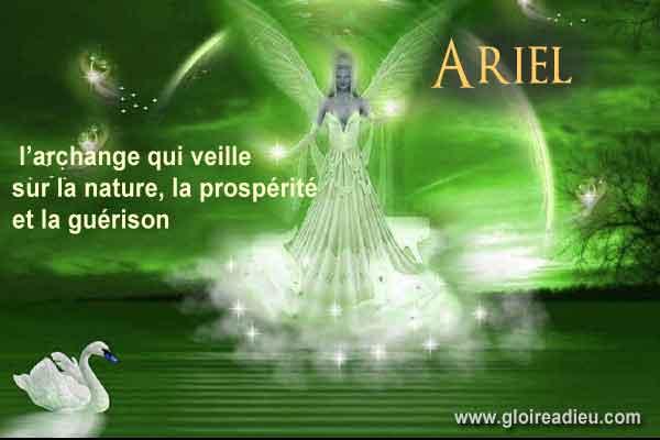 Archange Ariel veille sur la nature, prospérité et la guérison