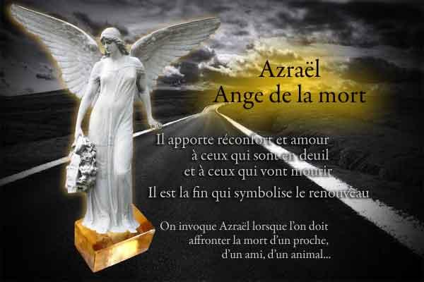 Archange Azraël ange de la mort rassure et protège les mourants