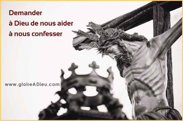 Prière pour demander à Dieu de nous aider à nous confesser