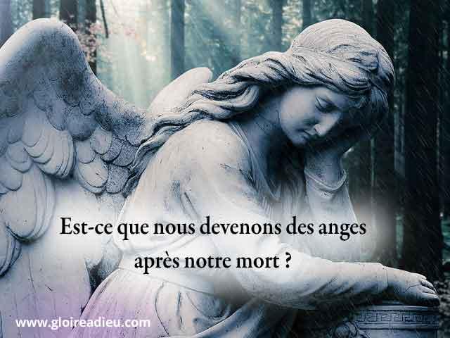 Est-ce que nous devenons des anges après notre mort ?