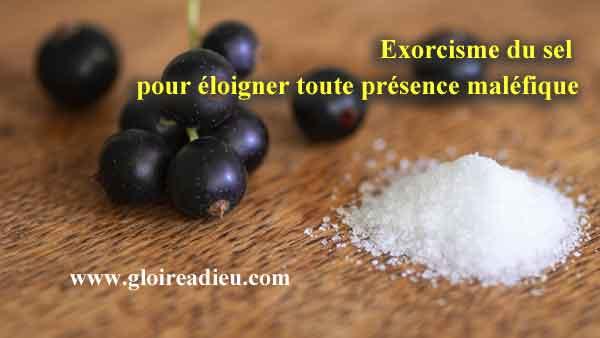 Exorcisme du sel pour éloigner toute présence maléfique