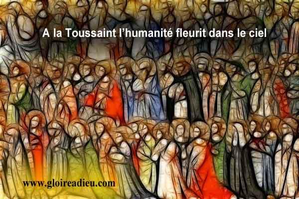 A la Toussaint l'humanité fleurit dans le ciel