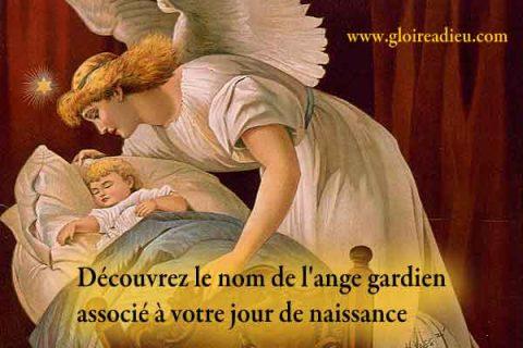 Quel est le nom de l'ange gardien associé à votre jour de naissance