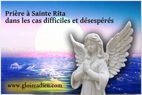 Prière à Sainte Rita pour les couples en difficulté, les cas désespérés et graves
