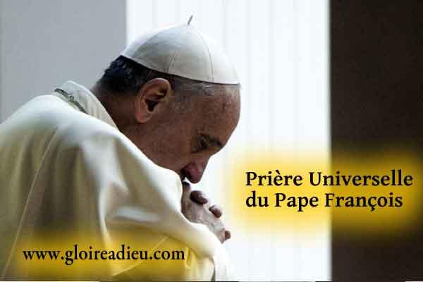 Prière universelle de protection du Pape François