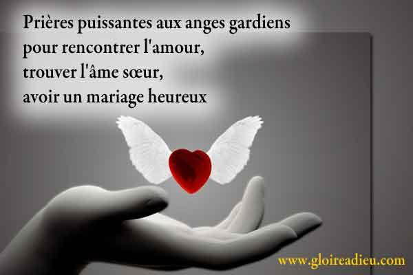 Prières aux anges gardiens pour rencontrer l'amour, trouver l'âme sœur, avoir un mariage heureux