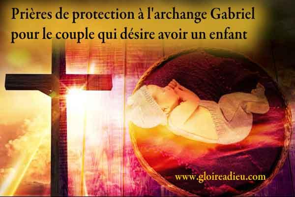 Prières de protection à l'archange Gabriel pour avoir un enfant