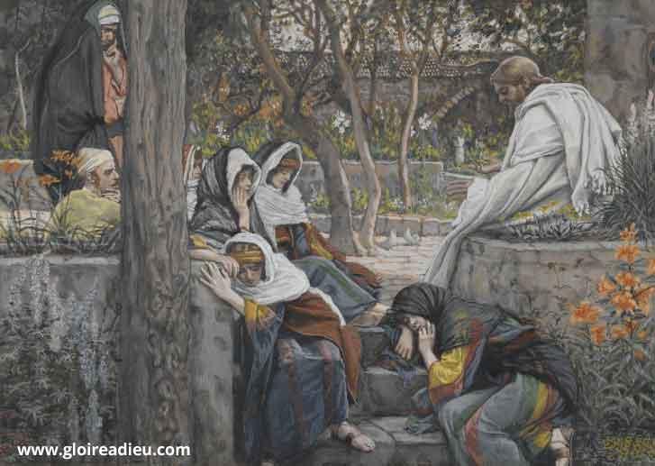 Jésus Marthe et Marie de Béthanie