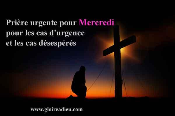 Mercredi : prière urgente pour les cas graves et difficiles