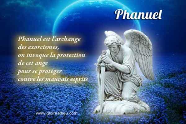 Phanuel archange des exorcismes à prier contre les forces du mal et de possession