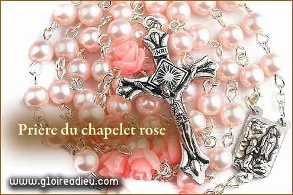 Grande prière du chapelet rose de Dieu aux anges et aux archanges