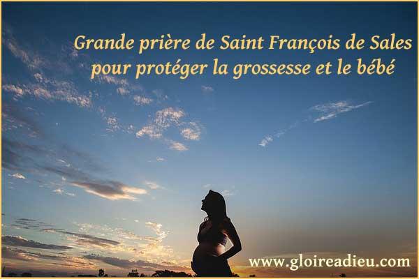 Prière de Saint François de Sales pour protéger la grossesse et le bébé