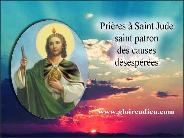 Prières à Saint Jude pour obtenir son aide dans des situations désespérées