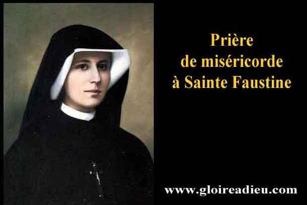 Prière de miséricode divine à Sainte Faustine