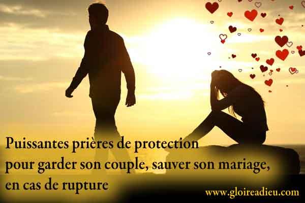Prières pour garder son couple, sauver son mariage en cas de rupture amoureuse