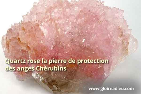 Quartz Rose Anges Cherubins