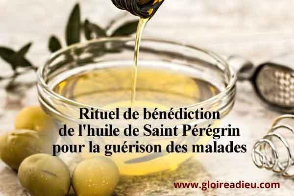 Rituel de bénédiction de l'huile de Saint Pérégrin pour la guérison des malades