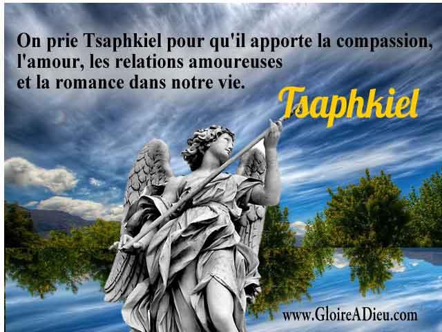Qui est l'archange Tsaphkiel prince des Trônes?